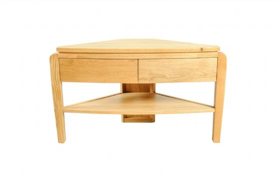 Bodinnick Oak Corner TV Unit - Special Order